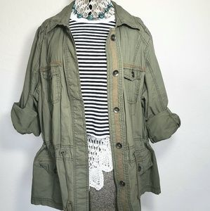 Womens Oversized Army Jacket